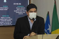 Moção do ver. Dr. Daniel apresenta aplauso ao deputado Georgiano Neto