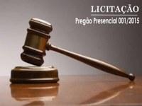 Pregão presencial 001/2015