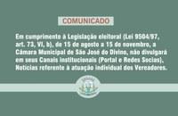 Restrições à publicidade institucional no período eleitoral